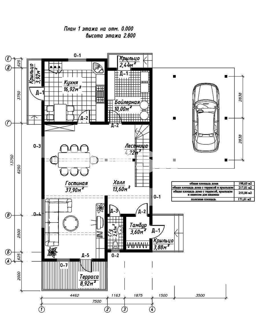 План первого этажа дома из СИП панелей Футура
