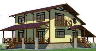 Проект дома из СИП панелей Орлеан