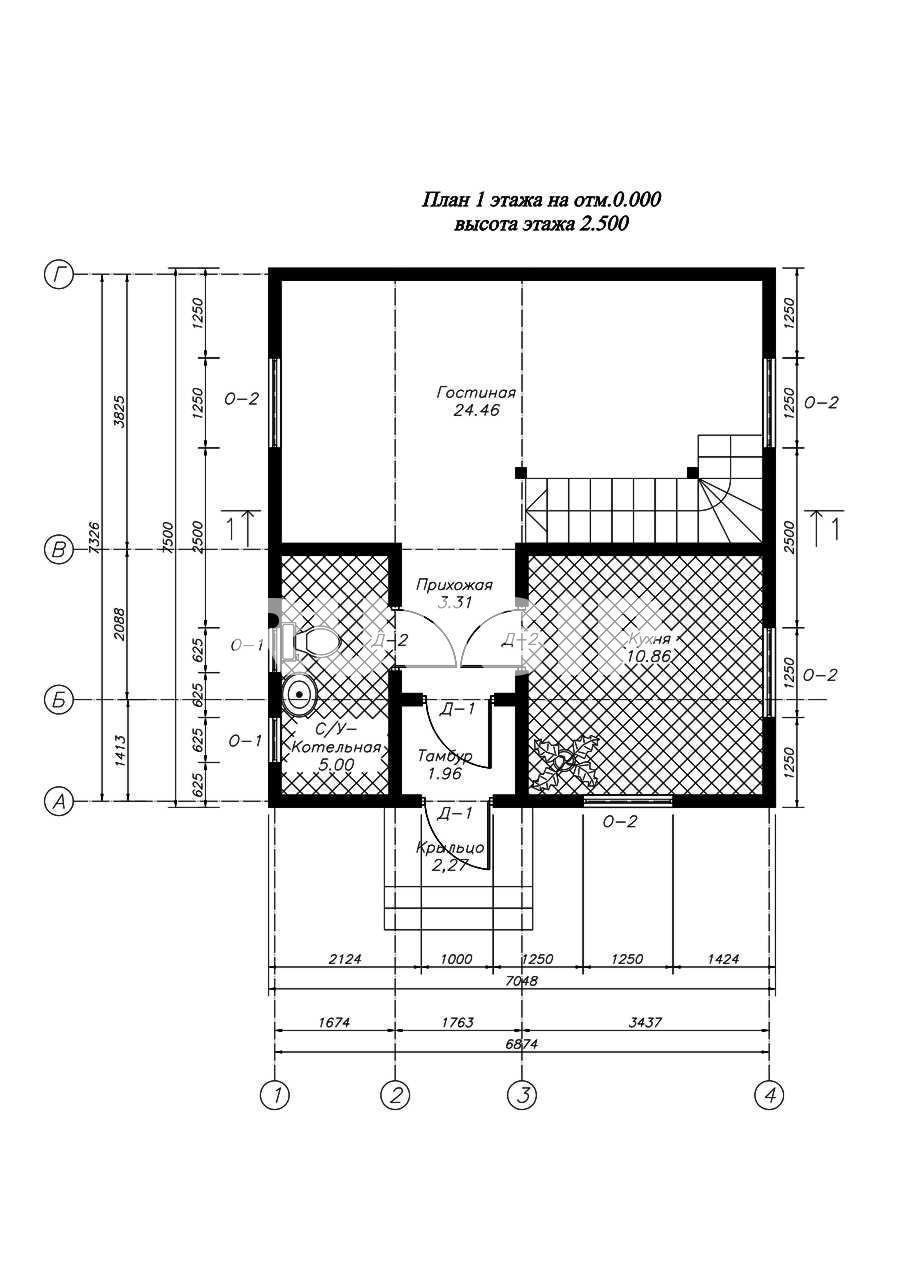 План первого этажа дома из СИП панелей Бремен