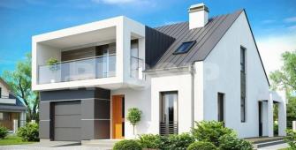 Проект дома из СИП панелей Бордо
