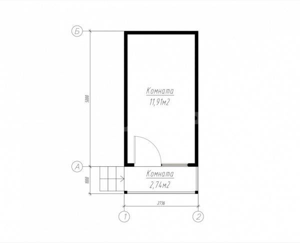 План первого этажа дома из СИП панелей Руан
