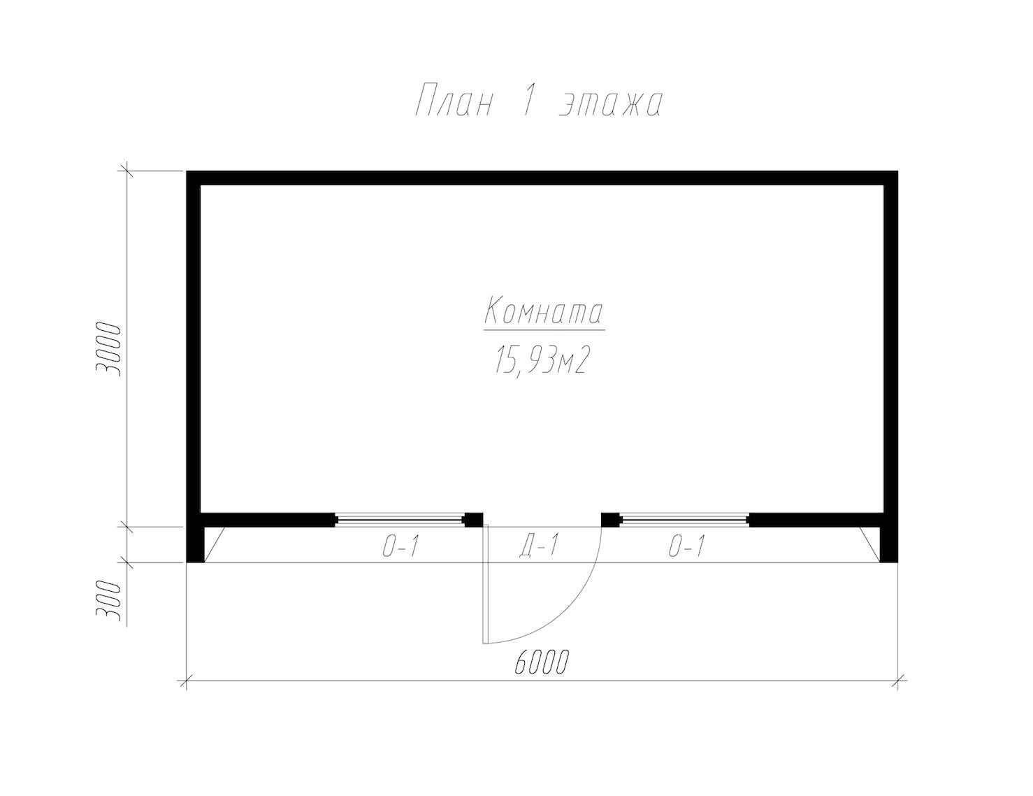 План первого этажа дома из СИП панелей СИП-БОКС офис