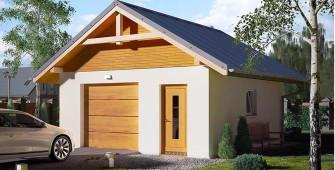 Проект дома из СИП панелей Гараж №3