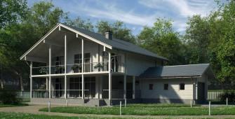 Проект дома из СИП панелей Грэй