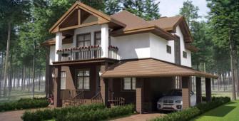 Проект дома из СИП панелей Цианея