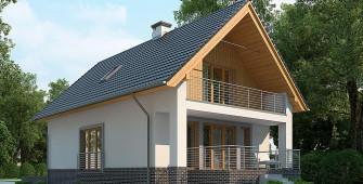 Проект дома из СИП панелей Лотос