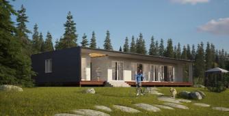 Проект дома из СИП панелей Юнит