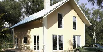 Проект дома из СИП панелей Альянс