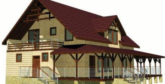 Проект дома из СИП панелей Виндзор
